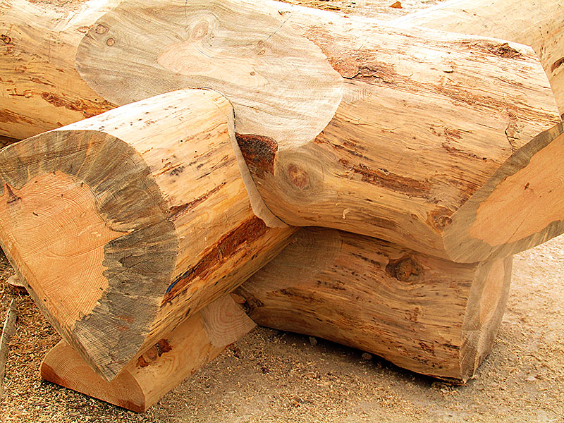 Gapless SAddle Notched Logs