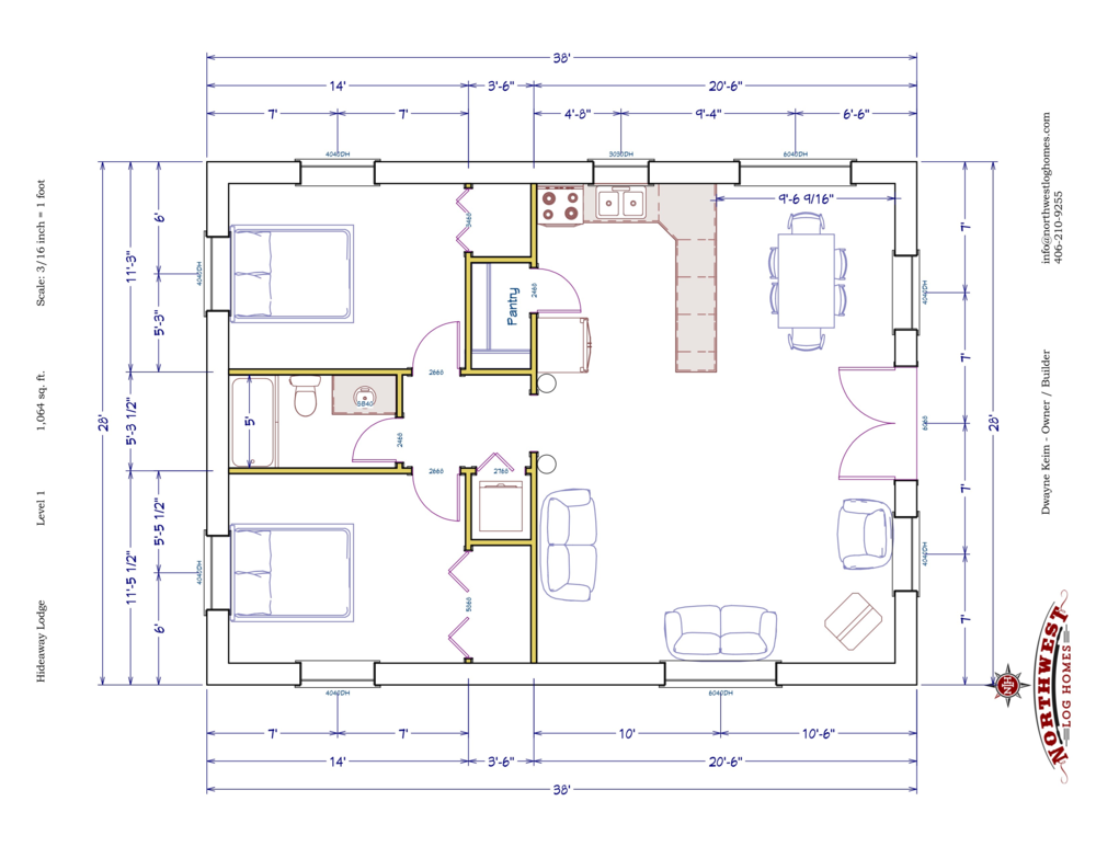 Main Floor - 1,064 sq. ft.
