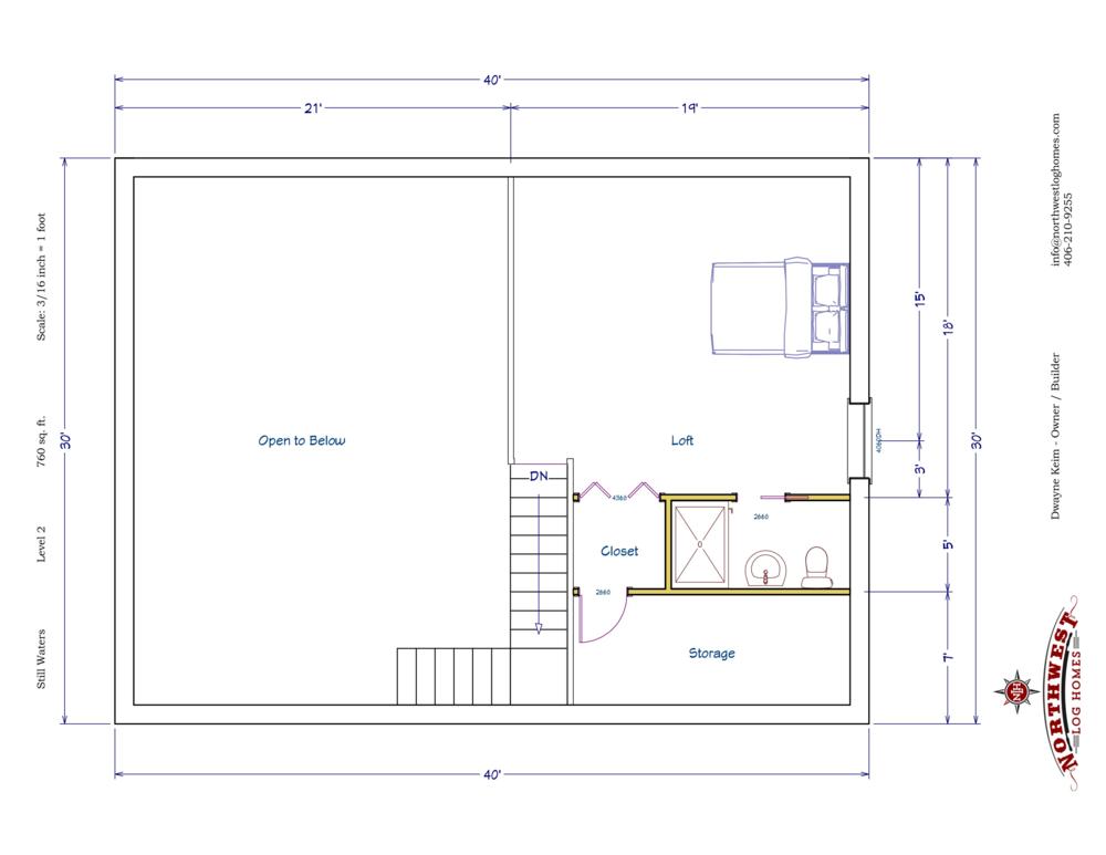 Loft - 760 sq. ft.
