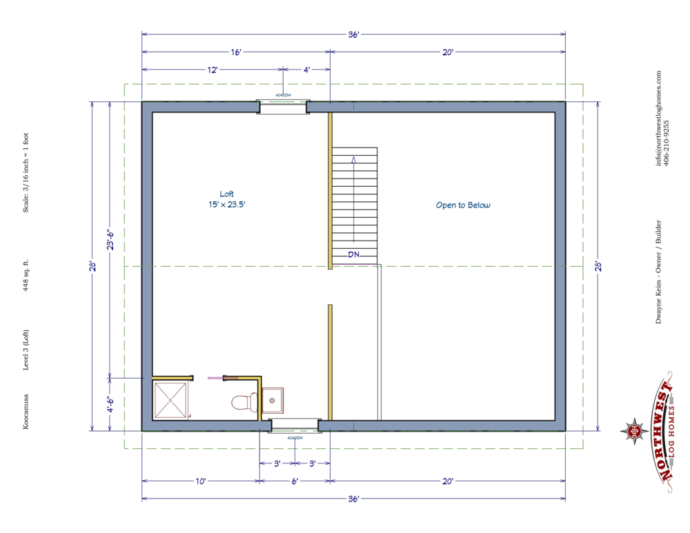 Loft - 448 sq. ft.