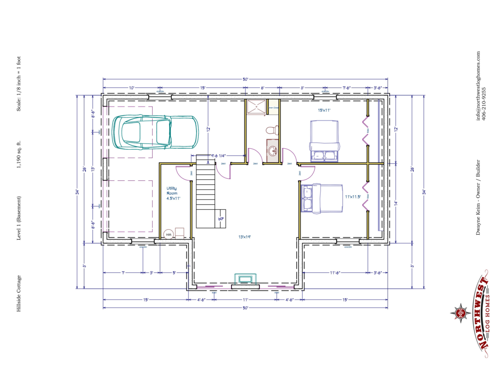 Basement - 1,190 sq. ft.
