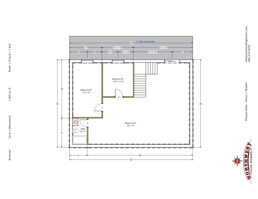 Basement - 1,260 sq. ft.