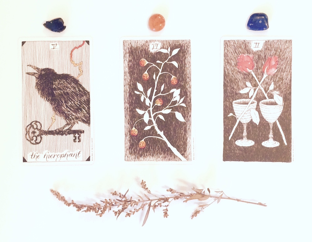 The oracle reading from autumn 2015 featured The Wild Unknown tarot deck by artist Kim Krans. Each card is followed by a lovingly crafted message from me to you, based on the cards' individual meanings.