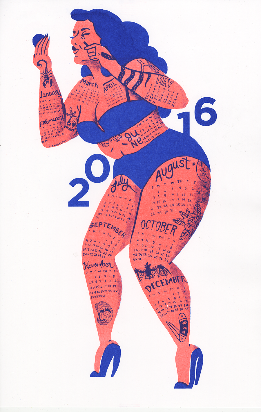 "11x17"" risograph print for 2016"