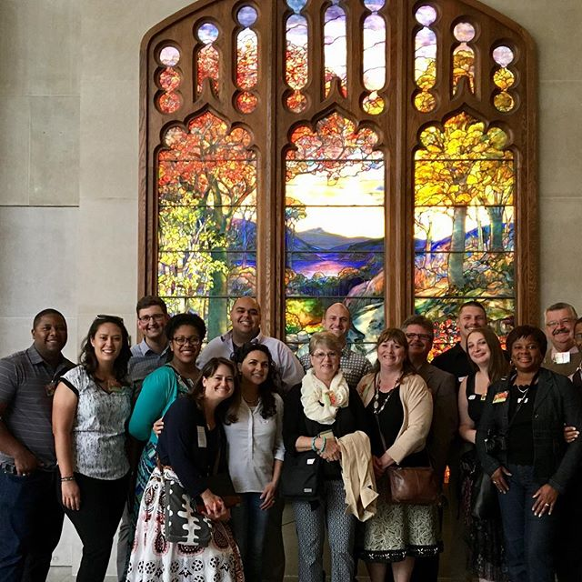 This Bible and American History tour group picked the perfect spot for a photo-op...right in front of the famous Tiffany window triptych in the American Wing!#oasisgrouptours #oasisbiblicaltours #oasistrips #bibletours #theocratichistorytours #jwbibletours #jwtours#themet #oasisatthemet #metbibletours #metmuseumbibletours #thebibleandamericanhistory #bibleandamericanhistory