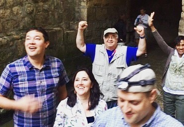 """Headlamp-$10, water shoes-$15,  exhilaration of making it thru Hezekiah's water tunnel - --PRICELESS!"" #oasisgrouptours #oasisbiblicaltours #oasistrips #bibletours #theocratichistorytours #jwbibletours #jwtours #themostbeautifulofallthelands #mostbeautifulofallthelands"
