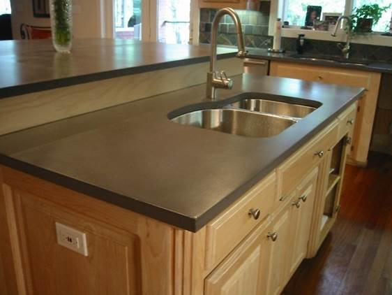 Perfect A Hand Chiseled Edge, Integral Color And Acid Staining Give These  Countertops An Olde World Charm.