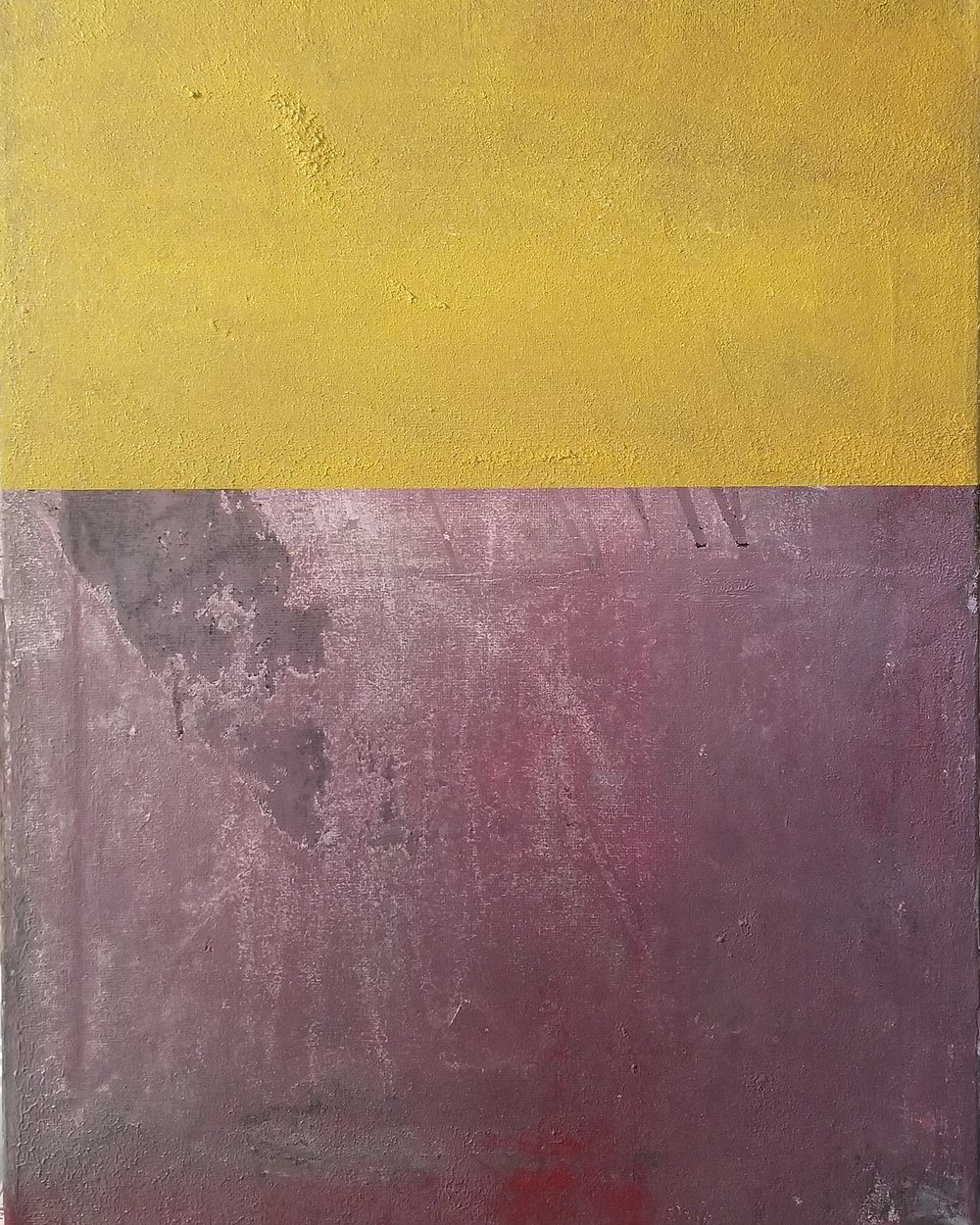 Yellow On Purple Untitled 2018