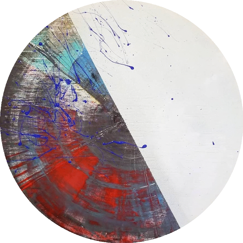 Circle Untitled on Wood, 2018