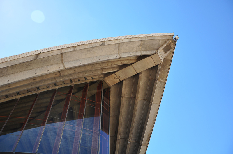 Concrete ribbing of the Opera House sails