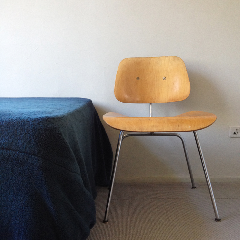 Eames chairs in the bedroom