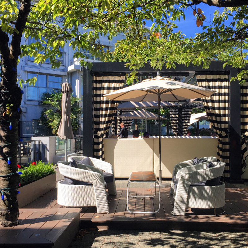 Patio goodness at Granville Island Hotel, False Creek
