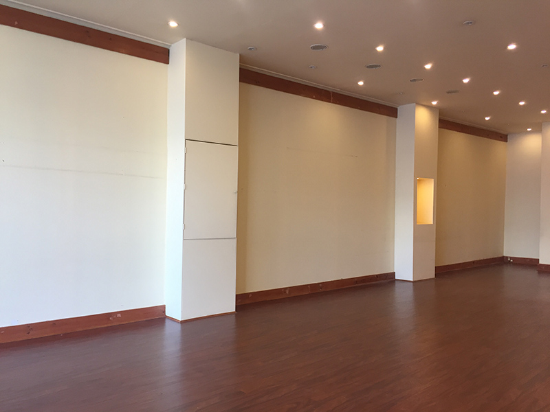 Before: Gallery space (June)