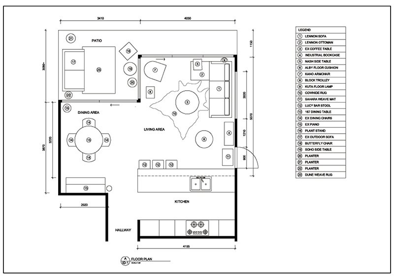 AutoCAD floor plan