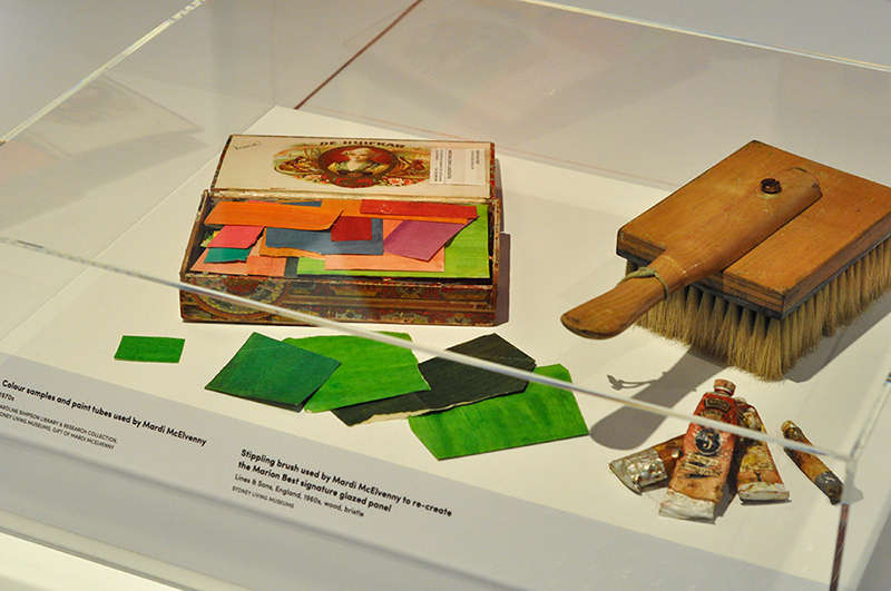 Tools used for colour glazing