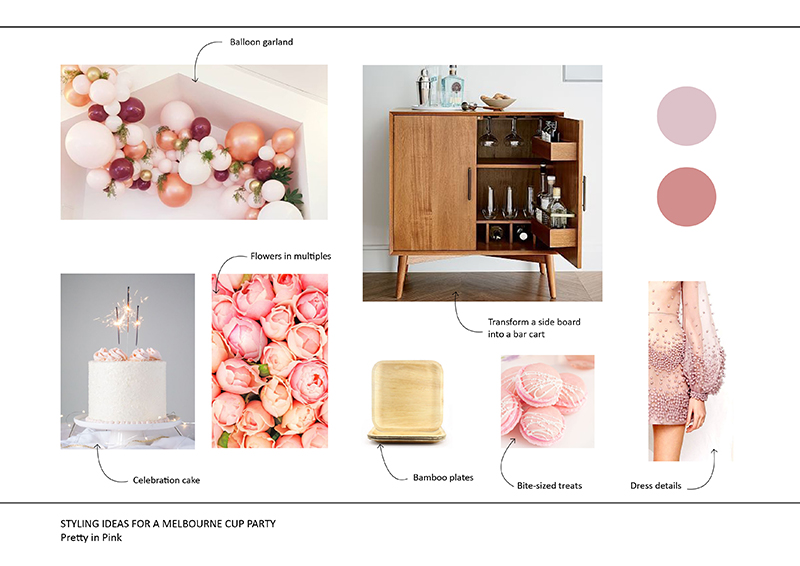 Pink party mood board