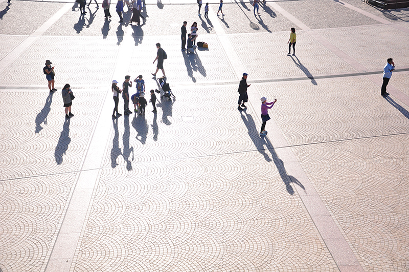 Sydney Opera House forecourt shadows