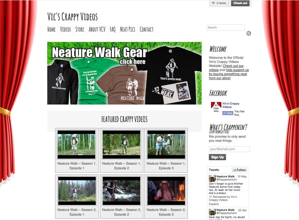 VicsCrappyVIdeos.com Homepage