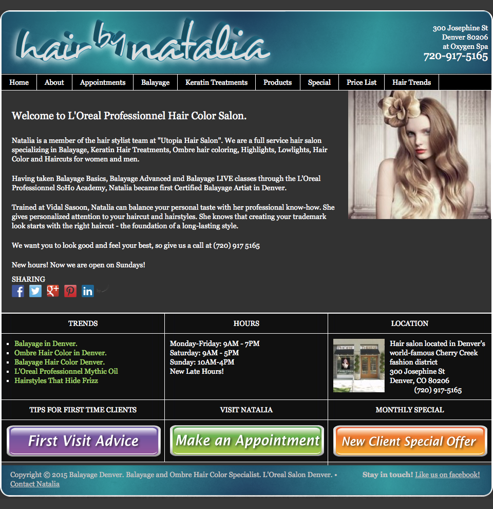 HairByNatalia.com HomepageHairByNatalia.com