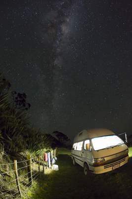 Under the stars mid winter northland
