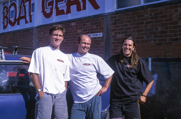 The A Team, 1993, L to R, Luke Darby graphic designer and in fact the designer of PhotoCPL.co.nz, Editor Chris Berge, and then some suspect longhaired grungy guy.
