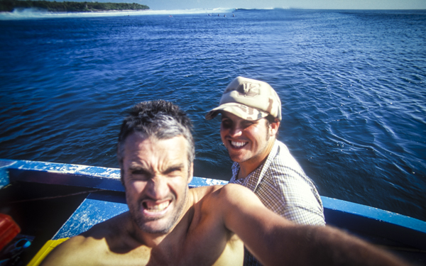 Dream jobbing in 2005, bobbing off the tip of East Java with Brent Courtney. Brent was NZ Surfing's graphic designer for 2 long periods, he's also the art director of all the PhotoCPL Media books bar one.
