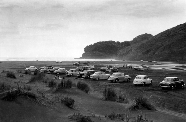Aunite Audrey's shot of Bethells from 1959 that was used for the cover of the book Beached As Then and Now