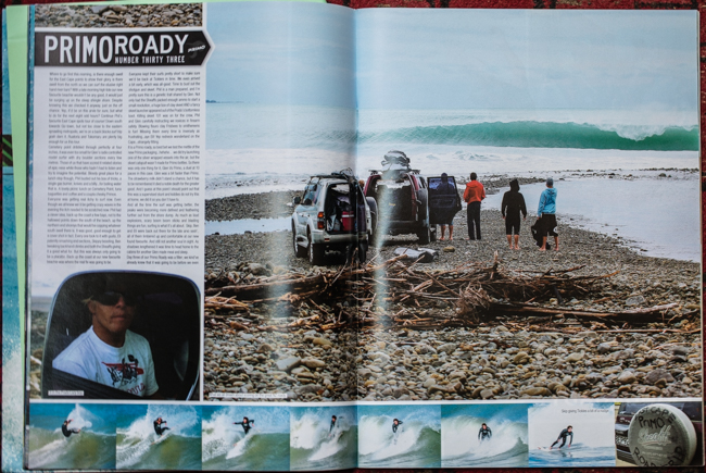 The real deal, and one of my all time favourite Primo Road Trips with Skip James, Ben Young, Eli Smith, Glen and Phil Sheaf. We went trippin' round the East Cape, shot real guns, blasted punk rock and scored great waves in random places.   Circa 2006 ish