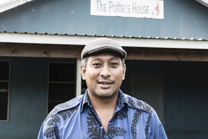 Matai Fiti outside his church The Potter's House