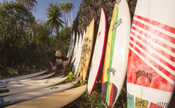 Ratty and his quiver a few years back... Keyhole Boardriders REPRESENT.