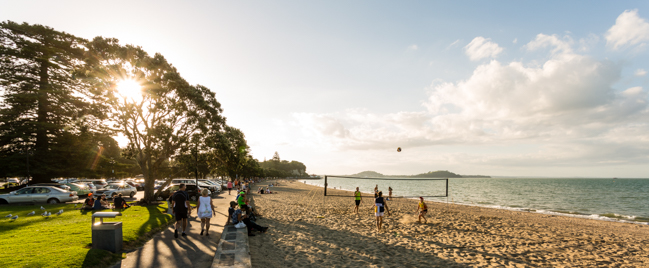 Maybe a surprise choice, but I love the long shadows and that there's so many interactions happening. Mission Bay, Auckland on a typical summer mid week evening. Shot on a Canon 5Dmkiv with a 16-35mm L lens.