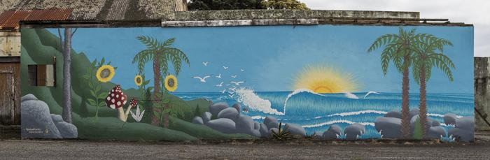 Taranaki's Surf Highway summed up perfectly by Liquid Murals