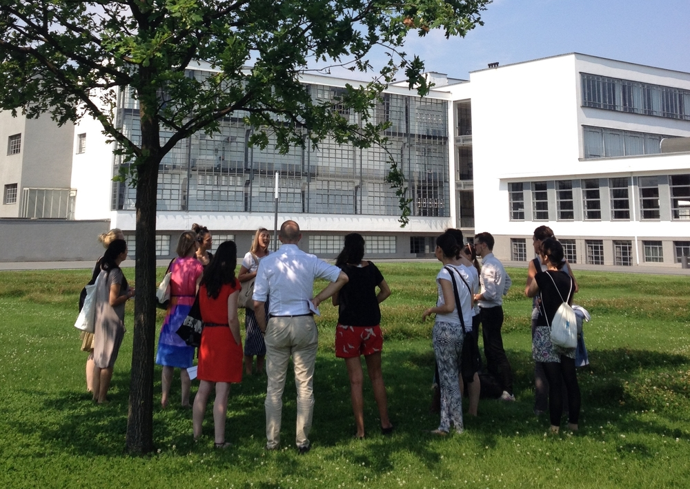 During the walk given to present the installation and archival work necessary to its developement.