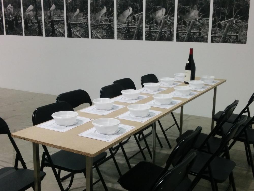 The table at Bétonsalon.