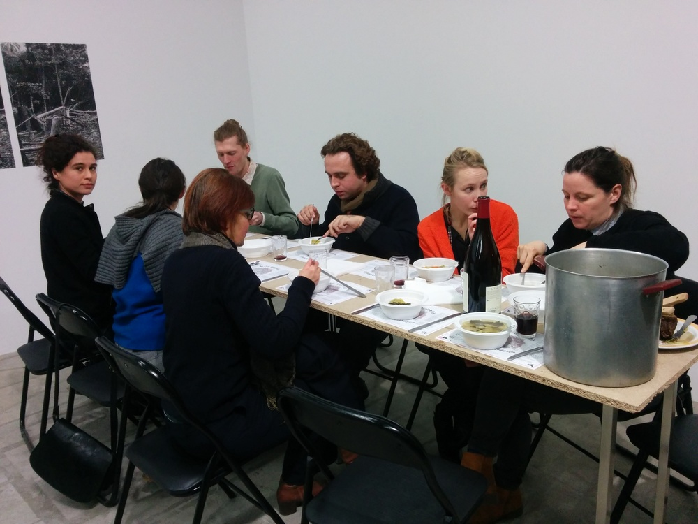 Some of the participants tasting horse pot-au-feu based on a recipe from 1871.