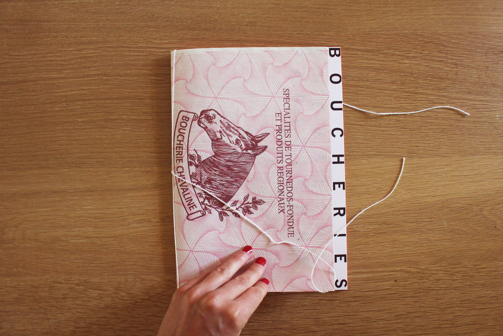 Cover (horse butcher paper), Binding (meat string)