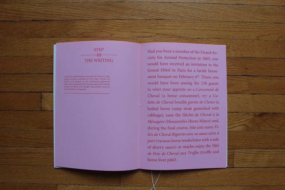 The first page of the 'third step'