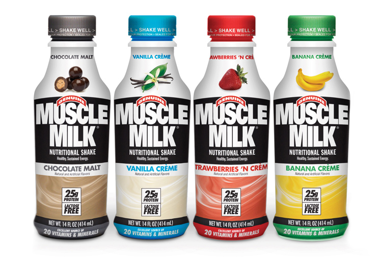 Cytosport's Muscle Milk — Bright Design