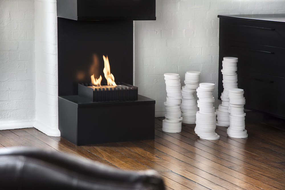 Copy of Teneriffe Warehouse Apartment 2 - fireplace