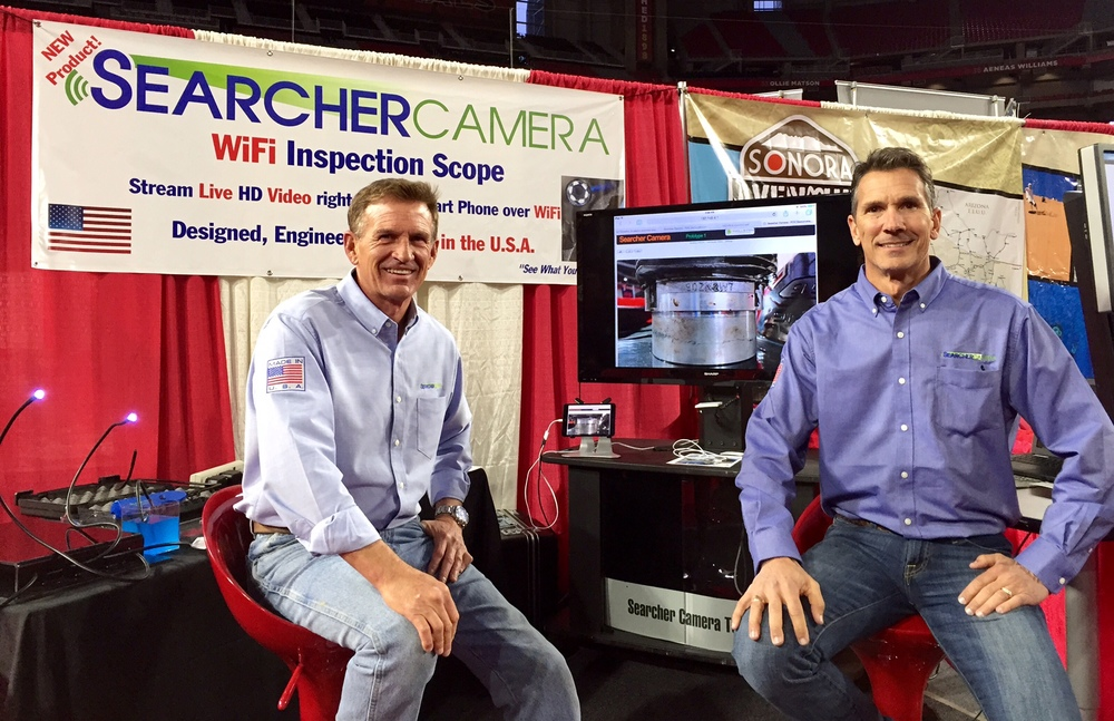Searcher Camera booth at Phoenix Sports Expo