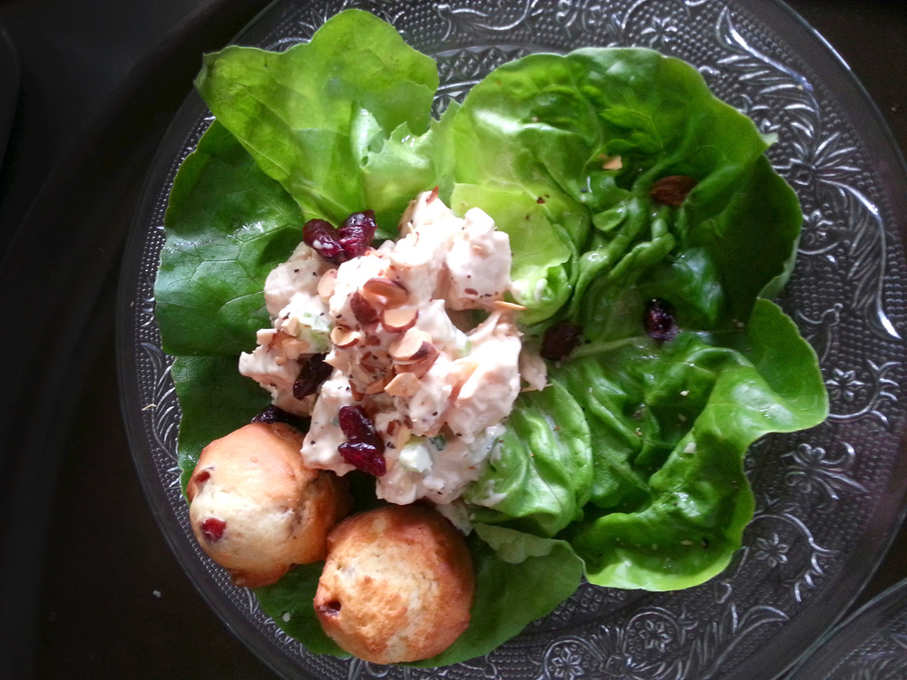Apricot and Cranberry Chicken Salad with Orange Cranberry Muffins