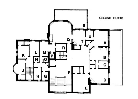 While these are not the complete floor plans they do give a good idea of the size of the home. There are 4 floors, each around 5000 sq. ft. and a small 5th story around 2000 sq. ft.