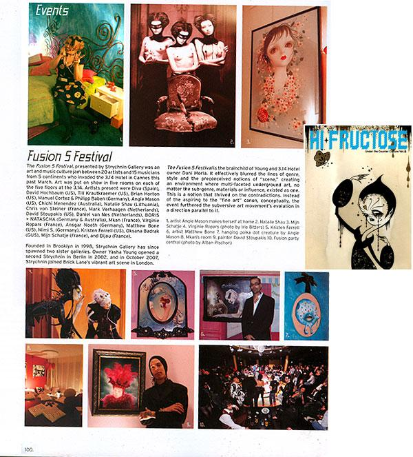 Hi-Fructose Magazine- Exhibit Review 2008