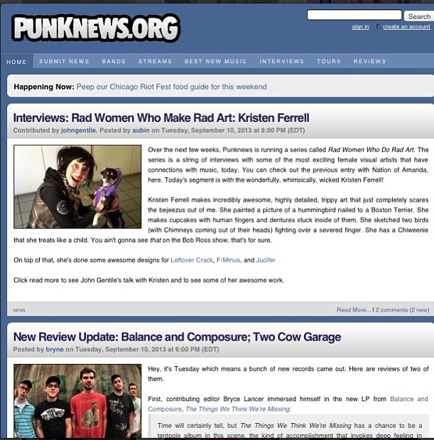 Punknews.org- Artist feature 2012