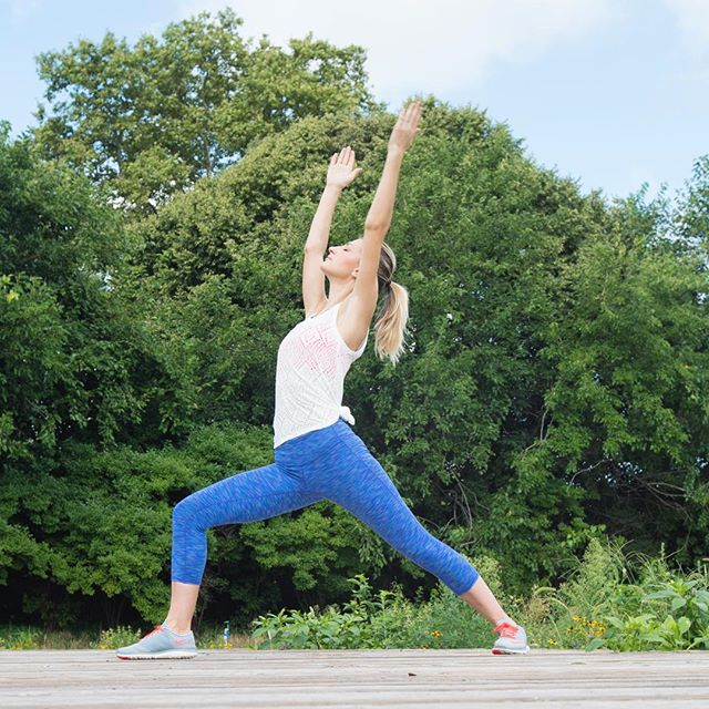 Join me for FREE OUTDOOR YOGA next Wed. 8/2 at 6:30pm at the Naval Cemetery Landscape in Brooklyn. 🌾 Bring a yoga mat and let's enjoy our practice surrounded by wild flowers and the open sky. . . All details/RSVP for Yoga in the Grove on my site: link in bio ☝🏼 . . Thanks to @abhayayoga 🌿