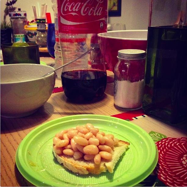 """Bean bruschetta"" - 8:23 pm"