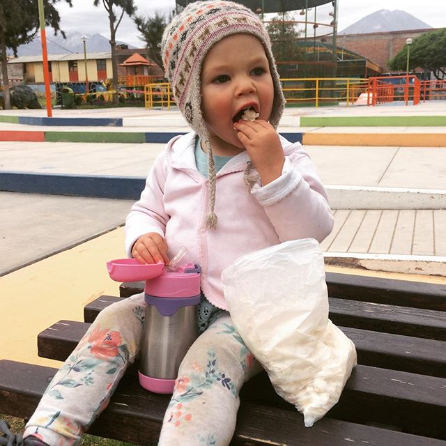 It's a popcorn eating, park sitting, cloudy kind of day! #adileenkate