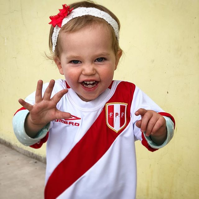 Adileen will be cheering on Peru tonight...or maybe sleeping through the game since it starts at 10:30.  #adileenkate
