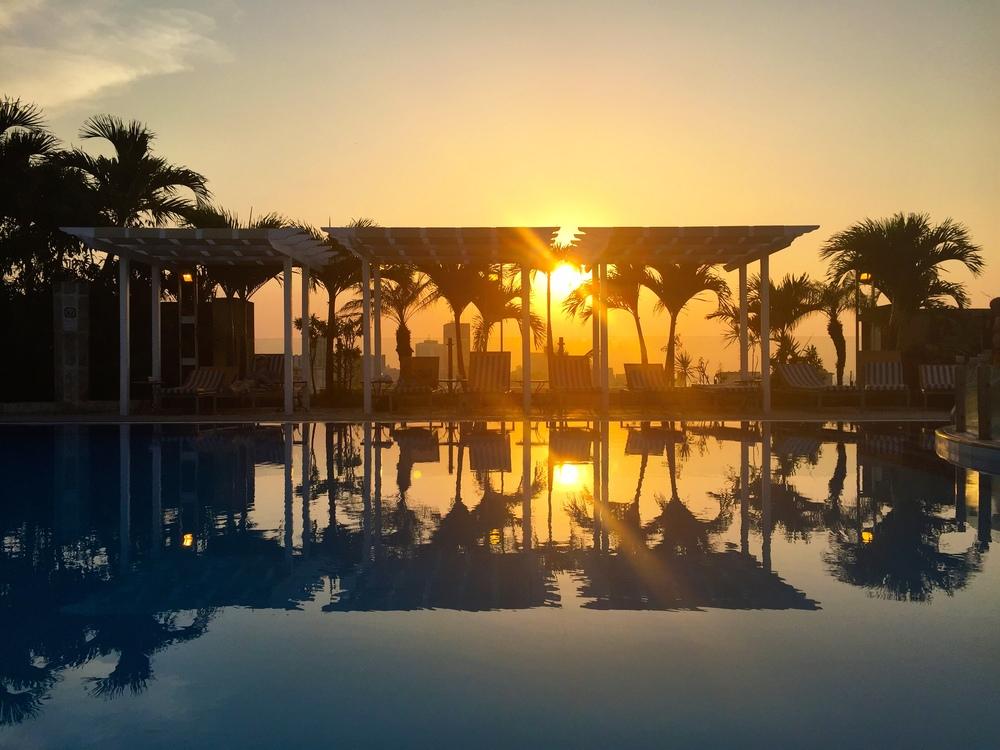 Sunset at Hotel Sevilla