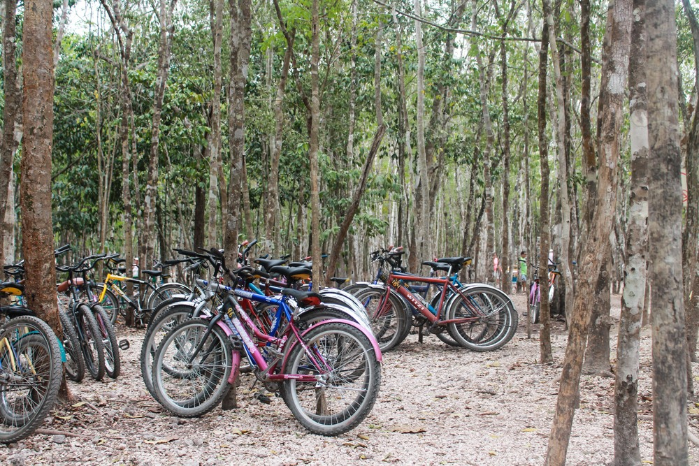 Bikes for rent at Coba